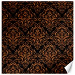 DAMASK1 BLACK MARBLE & RUSTED METAL (R) Canvas 16  x 16   16 x16 Canvas - 1