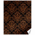 DAMASK1 BLACK MARBLE & RUSTED METAL (R) Canvas 16  x 20   20 x16 Canvas - 1