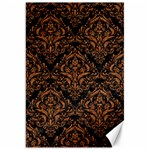 DAMASK1 BLACK MARBLE & RUSTED METAL (R) Canvas 20  x 30   30 x20 Canvas - 1