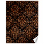 DAMASK1 BLACK MARBLE & RUSTED METAL (R) Canvas 36  x 48   48 x36 Canvas - 1