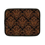 DAMASK1 BLACK MARBLE & RUSTED METAL (R) Netbook Case (Small)  Front