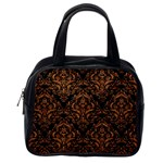 DAMASK1 BLACK MARBLE & RUSTED METAL (R) Classic Handbags (One Side) Front