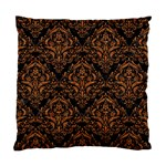 DAMASK1 BLACK MARBLE & RUSTED METAL (R) Standard Cushion Case (One Side) Front