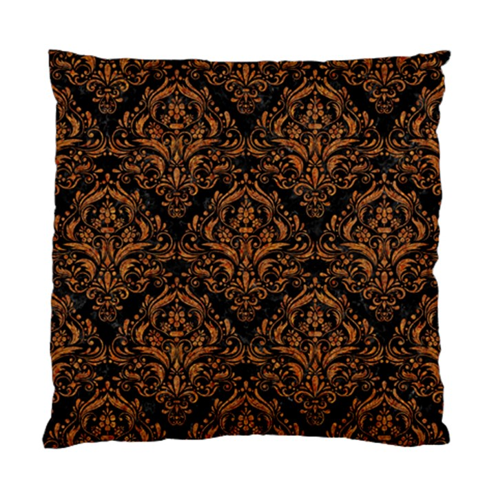 DAMASK1 BLACK MARBLE & RUSTED METAL (R) Standard Cushion Case (One Side)