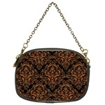 DAMASK1 BLACK MARBLE & RUSTED METAL (R) Chain Purses (Two Sides)  Back