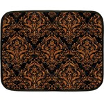 DAMASK1 BLACK MARBLE & RUSTED METAL (R) Double Sided Fleece Blanket (Mini)  35 x27 Blanket Front
