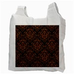 DAMASK1 BLACK MARBLE & RUSTED METAL (R) Recycle Bag (Two Side)  Back