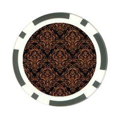 Damask1 Black Marble & Rusted Metal (r) Poker Chip Card Guard (10 Pack)