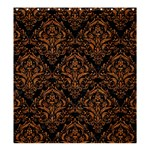 DAMASK1 BLACK MARBLE & RUSTED METAL (R) Shower Curtain 66  x 72  (Large)  58.75 x64.8 Curtain