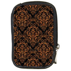 Damask1 Black Marble & Rusted Metal (r) Compact Camera Cases