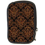 DAMASK1 BLACK MARBLE & RUSTED METAL (R) Compact Camera Cases Front
