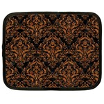DAMASK1 BLACK MARBLE & RUSTED METAL (R) Netbook Case (XXL)  Front