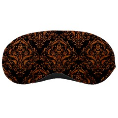Damask1 Black Marble & Rusted Metal (r) Sleeping Masks