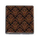 DAMASK1 BLACK MARBLE & RUSTED METAL (R) Memory Card Reader (Square) Front