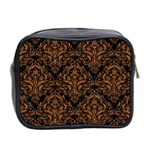 DAMASK1 BLACK MARBLE & RUSTED METAL (R) Mini Toiletries Bag 2-Side Back