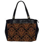 DAMASK1 BLACK MARBLE & RUSTED METAL (R) Office Handbags (2 Sides)  Front