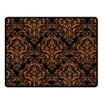 DAMASK1 BLACK MARBLE & RUSTED METAL (R) Fleece Blanket (Small) 50 x40 Blanket Front