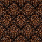 DAMASK1 BLACK MARBLE & RUSTED METAL (R) Magic Photo Cubes Side 2