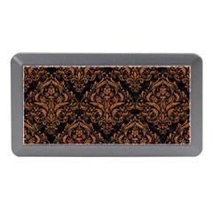 Damask1 Black Marble & Rusted Metal (r) Memory Card Reader (mini)