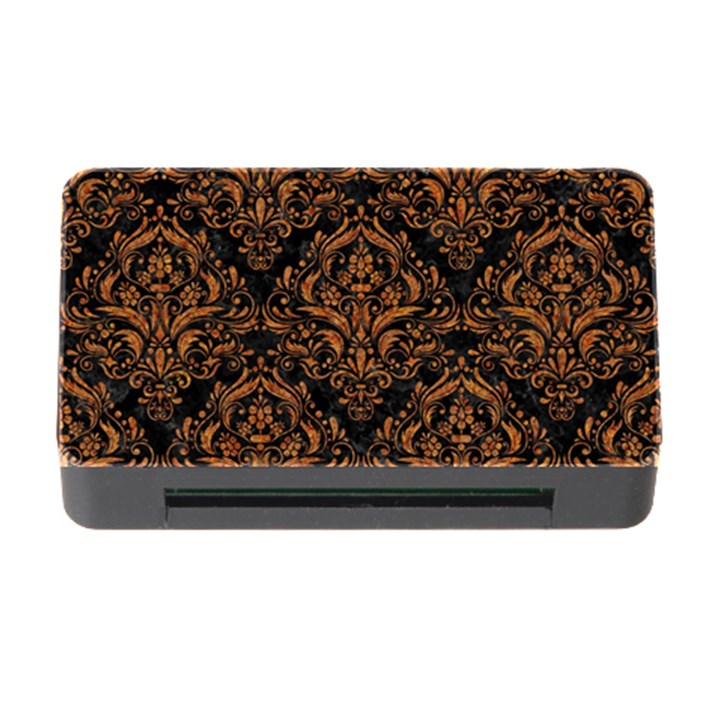 DAMASK1 BLACK MARBLE & RUSTED METAL (R) Memory Card Reader with CF