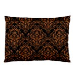 DAMASK1 BLACK MARBLE & RUSTED METAL (R) Pillow Case (Two Sides) Front