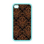 DAMASK1 BLACK MARBLE & RUSTED METAL (R) Apple iPhone 4 Case (Color) Front
