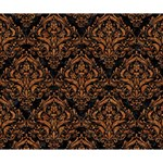 DAMASK1 BLACK MARBLE & RUSTED METAL (R) Deluxe Canvas 14  x 11  14  x 11  x 1.5  Stretched Canvas