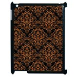 DAMASK1 BLACK MARBLE & RUSTED METAL (R) Apple iPad 2 Case (Black) Front