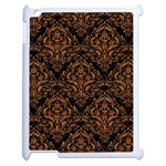 DAMASK1 BLACK MARBLE & RUSTED METAL (R) Apple iPad 2 Case (White) Front