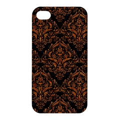Damask1 Black Marble & Rusted Metal (r) Apple Iphone 4/4s Hardshell Case