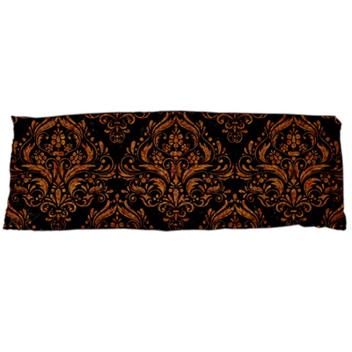 DAMASK1 BLACK MARBLE & RUSTED METAL (R) Body Pillow Case (Dakimakura)