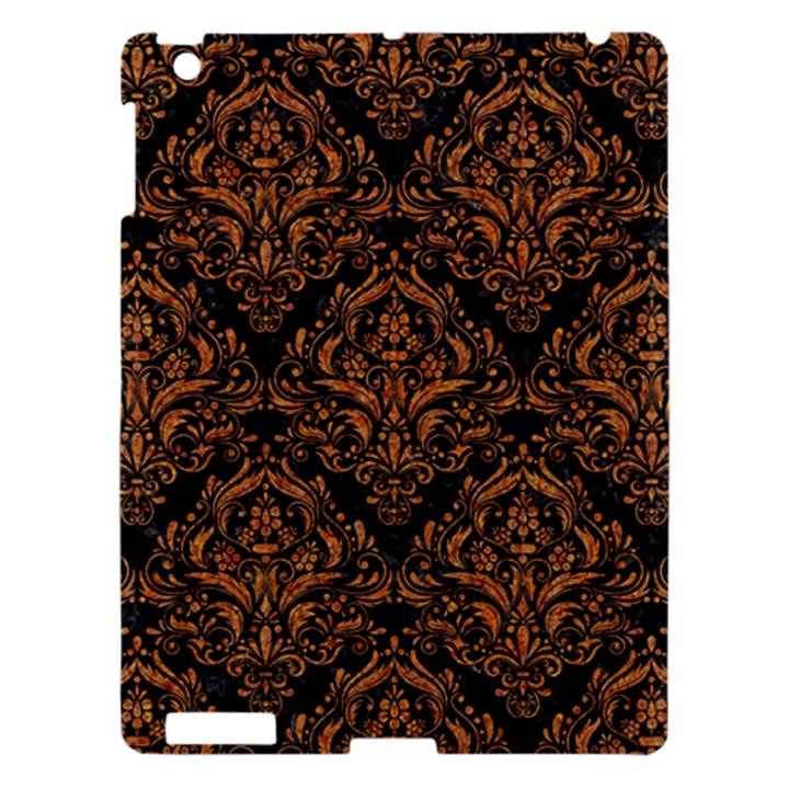 DAMASK1 BLACK MARBLE & RUSTED METAL (R) Apple iPad 3/4 Hardshell Case