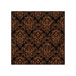DAMASK1 BLACK MARBLE & RUSTED METAL (R) Acrylic Tangram Puzzle (4  x 4 ) Front