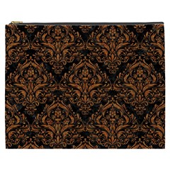 Damask1 Black Marble & Rusted Metal (r) Cosmetic Bag (xxxl)