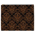 DAMASK1 BLACK MARBLE & RUSTED METAL (R) Cosmetic Bag (XXXL)  Front