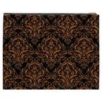 DAMASK1 BLACK MARBLE & RUSTED METAL (R) Cosmetic Bag (XXXL)  Back