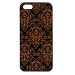 DAMASK1 BLACK MARBLE & RUSTED METAL (R) Apple iPhone 5 Seamless Case (Black) Front