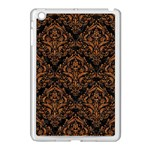 DAMASK1 BLACK MARBLE & RUSTED METAL (R) Apple iPad Mini Case (White) Front