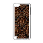 DAMASK1 BLACK MARBLE & RUSTED METAL (R) Apple iPod Touch 5 Case (White) Front