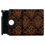 DAMASK1 BLACK MARBLE & RUSTED METAL (R) Apple iPad 2 Flip 360 Case Front