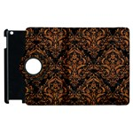 DAMASK1 BLACK MARBLE & RUSTED METAL (R) Apple iPad 3/4 Flip 360 Case Front