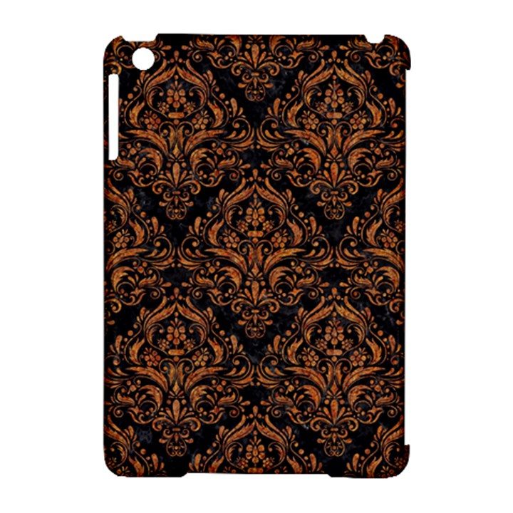 DAMASK1 BLACK MARBLE & RUSTED METAL (R) Apple iPad Mini Hardshell Case (Compatible with Smart Cover)