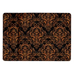 Damask1 Black Marble & Rusted Metal (r) Samsung Galaxy Tab 10 1  P7500 Flip Case
