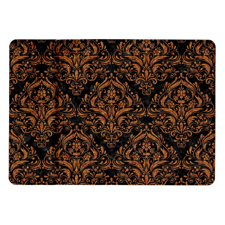 DAMASK1 BLACK MARBLE & RUSTED METAL (R) Samsung Galaxy Tab 10.1  P7500 Flip Case