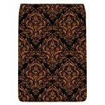 DAMASK1 BLACK MARBLE & RUSTED METAL (R) Flap Covers (L)  Front