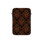 DAMASK1 BLACK MARBLE & RUSTED METAL (R) Apple iPad Mini Protective Soft Cases Front