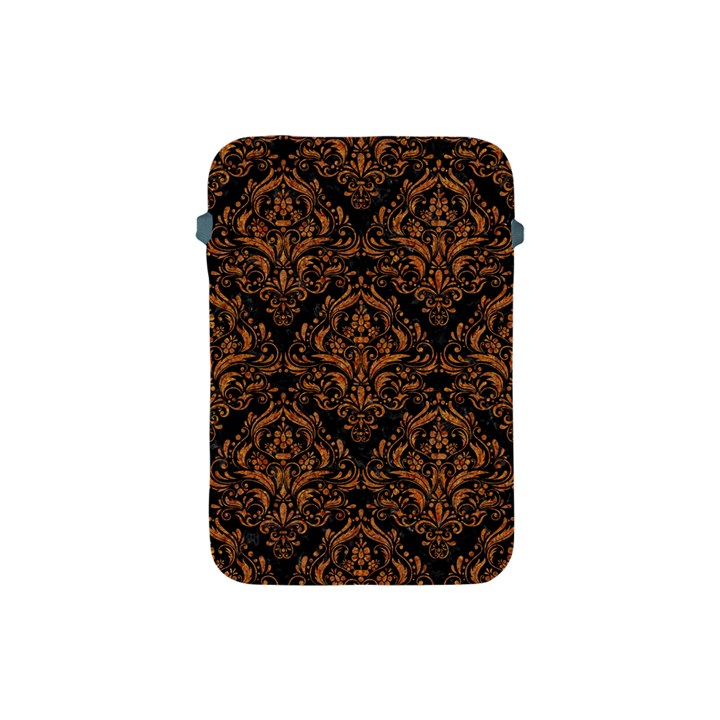 DAMASK1 BLACK MARBLE & RUSTED METAL (R) Apple iPad Mini Protective Soft Cases