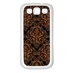 DAMASK1 BLACK MARBLE & RUSTED METAL (R) Samsung Galaxy S3 Back Case (White) Front