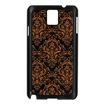 DAMASK1 BLACK MARBLE & RUSTED METAL (R) Samsung Galaxy Note 3 N9005 Case (Black) Front
