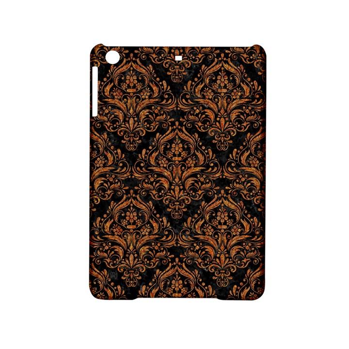 DAMASK1 BLACK MARBLE & RUSTED METAL (R) iPad Mini 2 Hardshell Cases